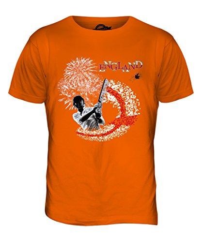 CandyMix Inghilterra Cricket T-Shirt da Uomo Maglietta Arancione