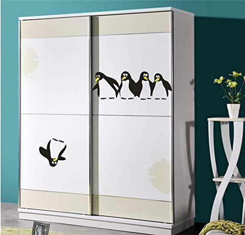Pingüino cocina etiqueta engomada del refrigerador calcomanías comedor pegatinas de pared decoración para el hogar para refrigerador Cuarto de baño Cuarto de niños
