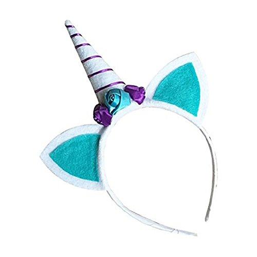 Shangrui Kinder Horn Partei Kopfschmuck Mit Ohren Und Blumen Hair hoop Partei Dress-up (Kostüme Und Schwester Guter Bruder)