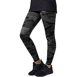Urban Classics Ladies Leggings, Mujer, (Dark Camo), X-Small