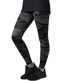 Urban Classics TB1331 Damen und Mädchen Camo Leggings, lange Camouflage Sporthose für Frauen, Yogahose