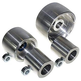(AL4–19) usiné CNC Ceinture Ensemble de roues de moulin Broyeur pour couteau 100mm Drive-19mm Tige 75mm suivi de roue Enrouleur de 50mm