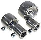 (AL4-19) Set di rotelle per smerigliatrice a nastro CNC per smerigliatrici a lama da 100 mm, albero da 19...
