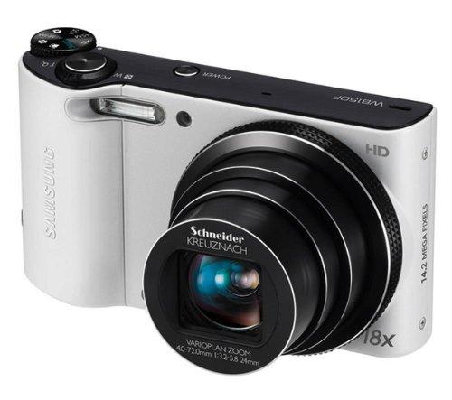 -Digitalkamera (14 Megapixel, 18-fach opt. Zoom, 7,6 cm (3 Zoll) Display, bildstabilisiert, Wifi) weiß ()