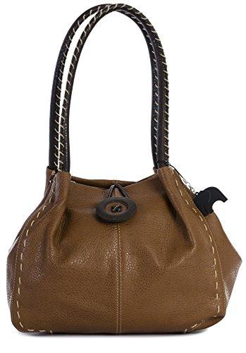 Big Handbag Shop, Borsa a spalla donna One Abbronzatura media (grado 4 PU)