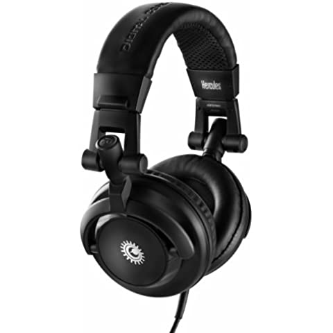 Hércules DJ HDP 40 - Auriculares de diadema abiertos para DJ, negro