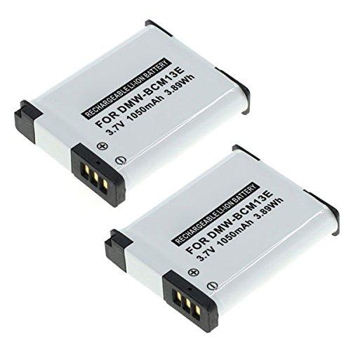 subtel 2X Akku kompatibel mit Panasonic Lumix DMC-TZ70 -TZ71 -TZ61 -TZ60 -TZ58 -TZ55 -TZ41 -TZ40 DMC-ZS100 -ZS60 -ZS50 -ZS45 -ZS40 DMC-FT5 DC-FT7 DMC-LZ40 -TS5 Ersatzakku DMW-BCM13e 1050mAh Batterie