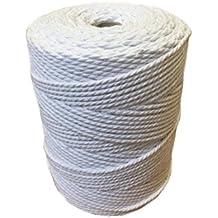 Cuerda de macramé 100 % de algodón natural, carrete de 1 kg, para envolver