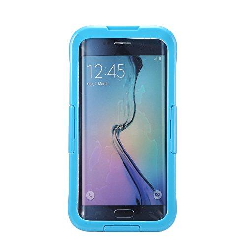 Ultra Thin-IP68Wasserdicht Schutzhülle Unterwasser Schnee stoßfest staubdicht Schutzhülle für Samsung Galaxy S6Edge versiegelt +, blau (Phone Number Search Uk)