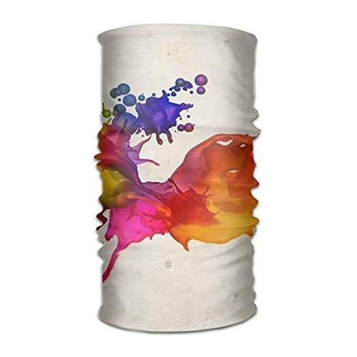 (KAKICSA Magic Headwear Colorful Spray Paint Outdoor Scarf Headbands Bandana Mask Neck Gaiter Head Wrap Mask Sweatband)