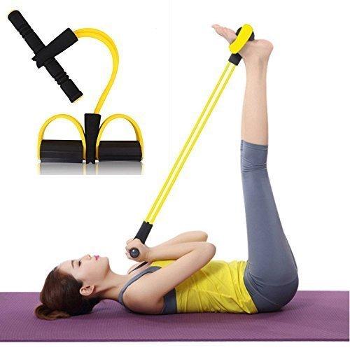 Mantavya Fitness Resistance Bands Latex Pedal Exerciser Women Men Sit Up Pull Ropes Yoga Fitness Equipment