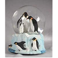 Penguin Family Musical Snow Globe - It's a Small World