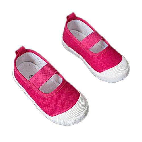 Mädchen Flache Hausschuhe Riemen Geschlossen Atmungsaktiv Slippers Blumen Bequeme Laufen Mary Jane Schuhe Rosa
