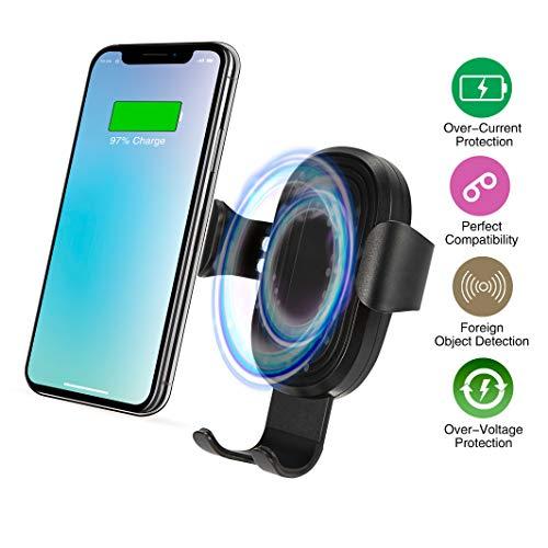 X-DNENG Drahtloses Kfz-Ladegerät für Gravity Telefon, 2-in-1, Qi Schnellladegerät und Handy-Halterung, Halterung für Lüftungsschlitze, Halterung für alle Qi-zertifizierten Smartphones