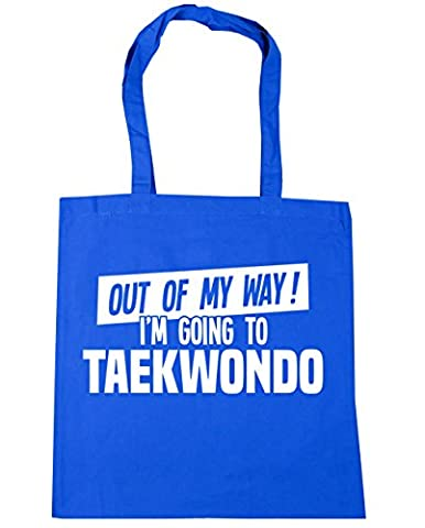 HippoWarehouse Out of My Way I'm Going to Taekwondo Tote Shopping Gym Beach Bag 42cm x38cm, 10 litres