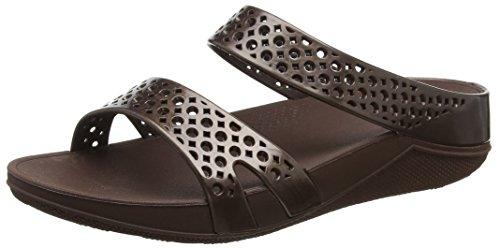 Fitflop Welljelly Z-Slide Sandals, Scarpe Col Tacco Donna Brown (Bronze)