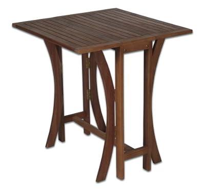 Klapptisch Akazienholz, Balkontisch, Gartentisch, Holztisch
