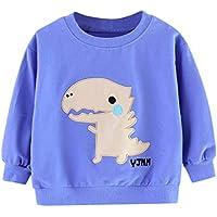 ZHMEI Camiseta Niño | Niños pequeños Bebés Niñas Niños Sudadera con Capucha Estampada de Dibujos Animados Abrigos Tops Trajes 0-4 años