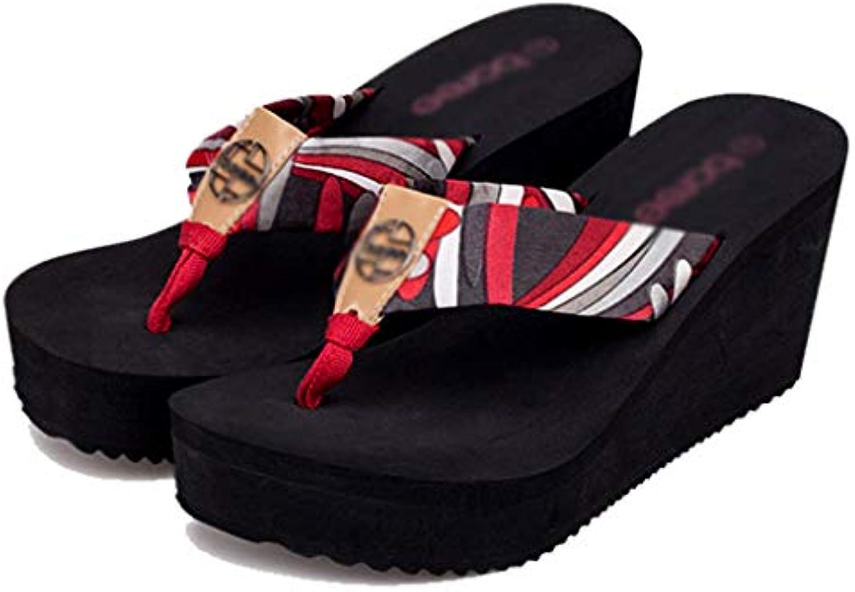 Pantofole AMINSHAP Slippers Summer Flip-Flops Sandali da Donna con Tacco a Spillo e Zeppa da Donna (Coloreee   rosso... | Stravagante  | Uomo/Donna Scarpa