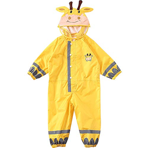 Weehey Kids Raincoat Breathable Rainwear Waterproof Raincoat For Children Boys Girls Students Rainsuit Hooded High Visibility Reflective Raincoat