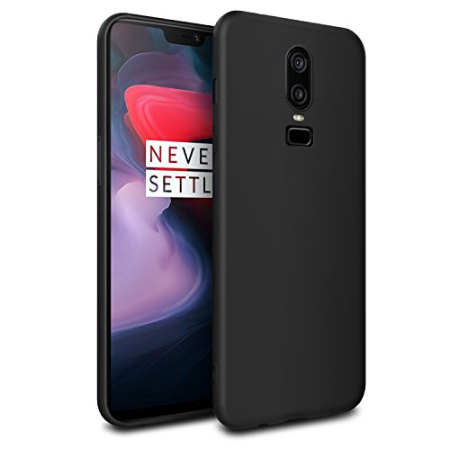 Easyacc OnePlus 6 TPU Case Matte Black, Soft TPU Cover Case Slim Anti-slide Back Protection Case Shockproof Cover for OnePlus 6