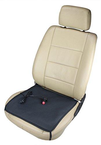 ObboMed SH-4050N 12V 24W 12V tragbares beheizbares Sitzkissen Polster Sitzauflage Sitzheizung mit Premium Zigarettenanzünderstecker und sicheren Befestigungshaken für Fahrzeuge, Auto, zu Hause und Büro