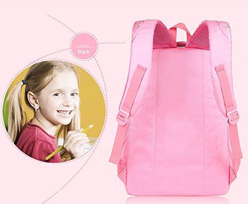 Minetom Amore Cuore PVC Borsa A Zainetto Donna Spalla Zaini Femminili Scuola Superiore Zainetti Bag Ragazze Zaino Rose Rosso