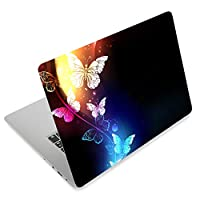 Laptop Stickers Decal,12 13 14 15 15.6 inches Netbook Laptop Skin Sticker Reusable Protector Cover Case for Toshiba Hp Samsung Dell Apple Acer Leonovo Sony Asus Laptop Notebook (Cool Butterflies)
