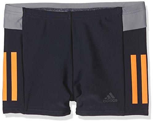 adidas Jungen Fitness Boxer Colorblocking Badehose, Legend Ink/Hi-Res Orange/Carbon/Grey, 140