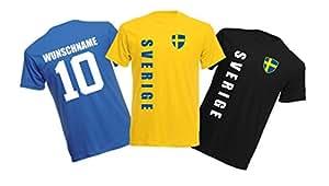 11 x Kinder T-Shirt Trikot Look – MINI EM 2016 – Schweden