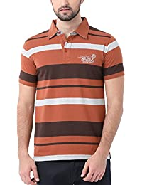 Classic Polo Striped Brown Polo Casual T-shirt