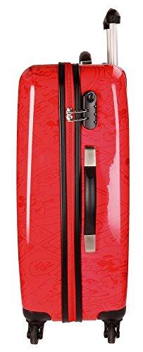 Disney Hello Mickey Valigia per bambini, 68 cm, 97 liters, Rosso (Rojo)