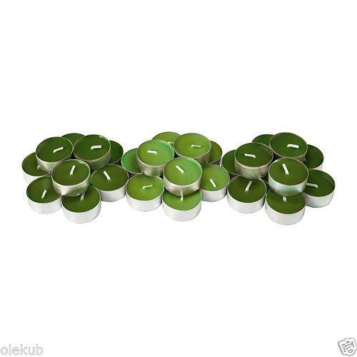 Velas de té Sinnlig, con aroma a manzana, color verde, de Ikea (202.363.61)