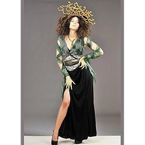 Disfraz de mujer Medusa con casco
