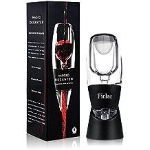 Firlar Essential Wine Aerator Decantador - Premium Magic Decanter Pourer Difusor - Único Día de San Valentín regalo idea Para las mujeres, los hombres, Girl Boy Amigo, aniversario, cumpleaños, parejas, amistad, Regalo de Vino