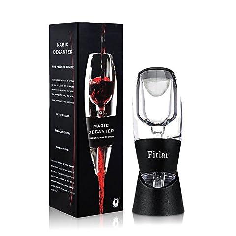 Firlar Essential Wine Aerator Decanter Set with Base– Premium Magic