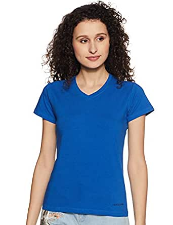 Fruit of the Loom Women's Plain Relaxed Fit T-Shirt (FVNS01-A1S1-Baleine Blue-S)