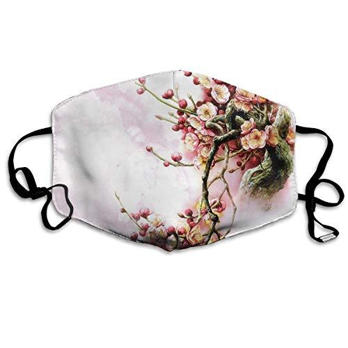 Kostüm Sakura Anime - Vbnbvn Unisex Mundmaske,Wiederverwendbar Anti Staub Schutzhülle,Flowers Spring Sakura Face Mouth Mask Anti Dust EXO Maske für Mann Frau