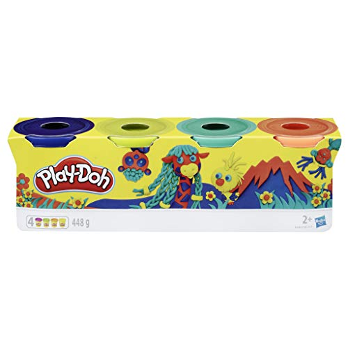 Play-Doh-Pack 4 Colores Silvestres, (Hasbro E4867ES0)