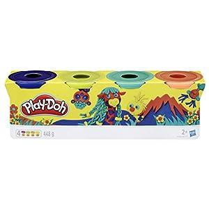 Play-Doh-Pack 4 Colores Silvestres, (Hasbro E4867ES0)
