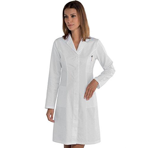 Camice da donna medico farmacista erboristeria in cotone classico ospedaliero (42)