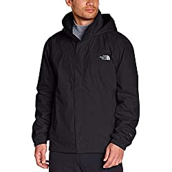 The North Face Resolve Chaqueta Negra Impermeable Hombre