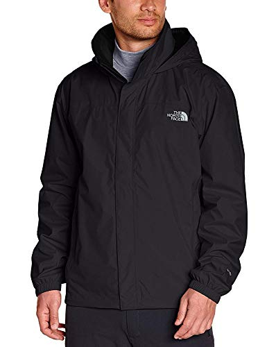 The North Face Resolve Chaqueta Impermeable, Hombre, Negro (TNF Black), L