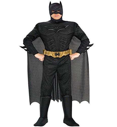 Herren Kostüm Batman Deluxe mit Muskeln - The Dark Knight (Dark Knight Batman-kostüm)
