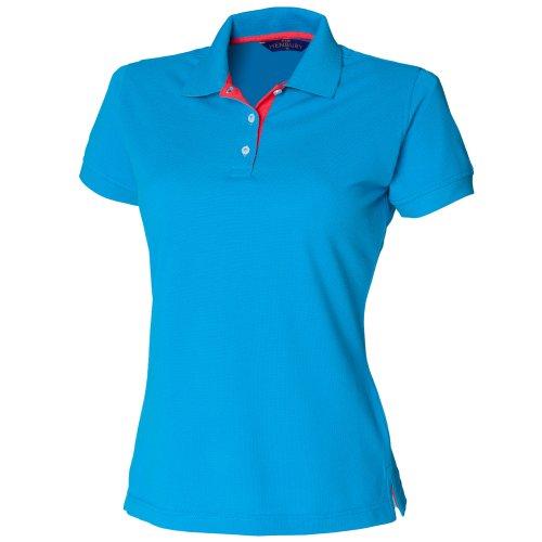 Polo coupe cintrée Henbury pour femme - Sapphire / Red