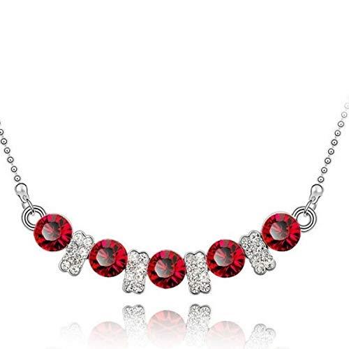BestOfBijoux - Ruby My Dear - Weibliche Halskette - Gold überzogen - Crystal [45cm / 17.7inch]