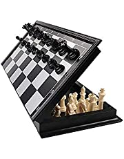 Prime Deals 100% Standard Materials and Smooth Surface Magnetic Chess Board Black and White (10 Inch)