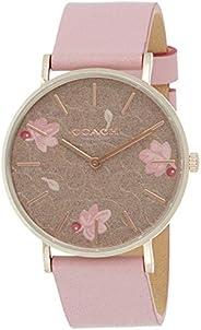 Coach Women's Multicolor Dial Pink Calfskin Watch - 1450