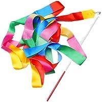 4M Danza Cinta de Gimnasia Gym Rítmica con la Varita del palillo Arte Ballet Giro, Colorido 2