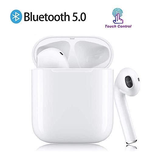 Cuffie Bluetooth I12 5.0 Auricolare Sportivo Wireless Smart Touch Cuffie con Riduzione del Rumore con Microfono Binaurale...